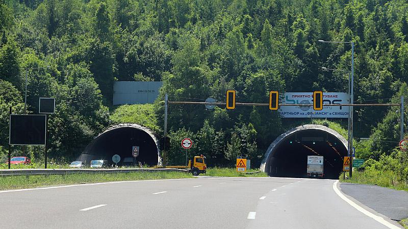 "От 09:30 до 15:30 движението по автомагистрала ""Хемус"" в тунела"