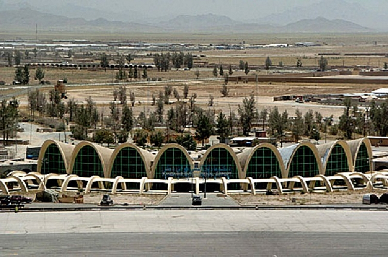 Базата на международната коалиция на летище Кандахар в Афганистан е