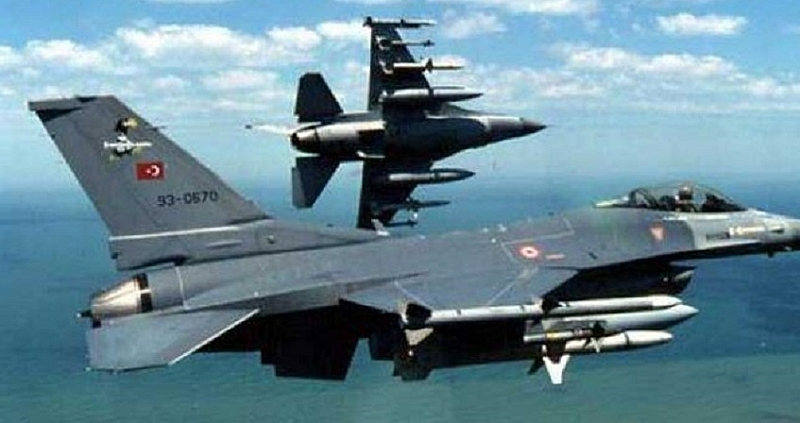 В понеделник турските въздушни сили са осъществили серия от нарушения
