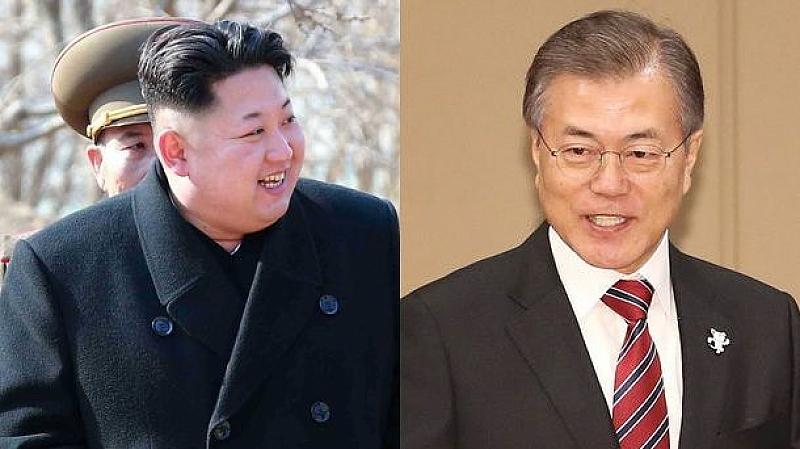 Ким Чен-ун и Мун Дже-ин са първите ръководители на двете