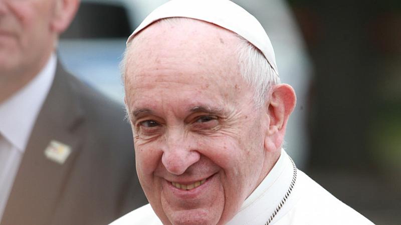 Папа Франциск, който е на апостолическо посещение у нас, днес
