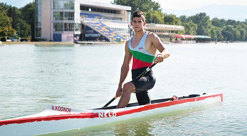 Ангел Кодинов спечели сребърен медал на 500 метра едноместно кану