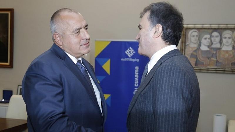 Бойко Борисов и министъра по въпросите на Евросъюза на Турция