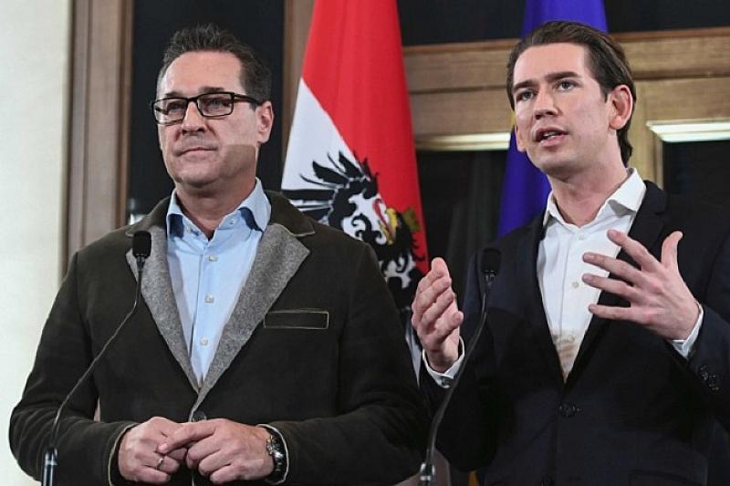 Австрийският вицеканцлер Хайнц-Кристиан Щрахе от крайнодясната Партия на свободата съобщи