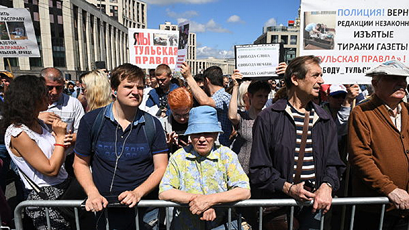 Хиляди отново излязоха на протест в Москва. Този път те