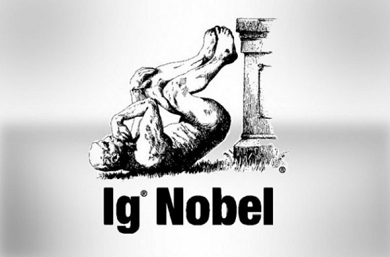 На церемонията на наградите Иг-Нобел*, известни също като Антинобелови награди,
