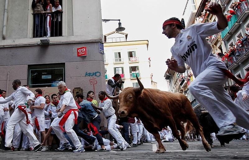 """Традиционният фестивал """"Сан Фермин"""" в северния испански град Памплона, известен"""