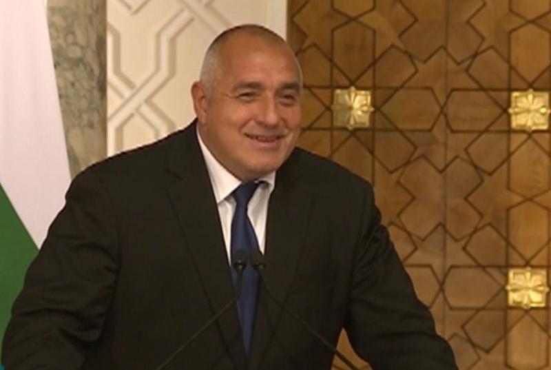 По време на брифинг на премиера на България и президента