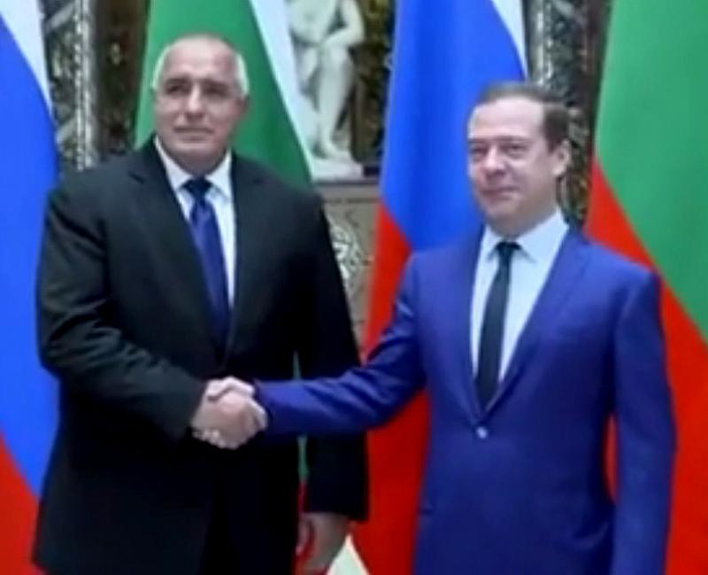 Очаквано премиерът Бойко Борисов и председателят на правителството на Руската