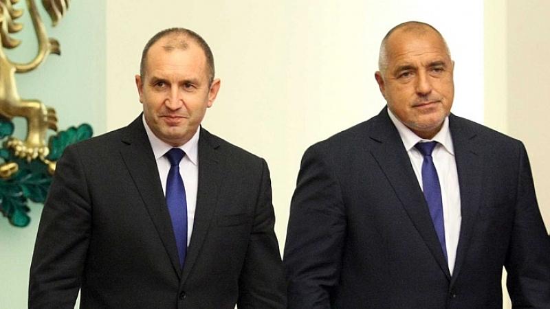 Снимка: Викат Борисов и Радев в парламента на обсъждането за F16