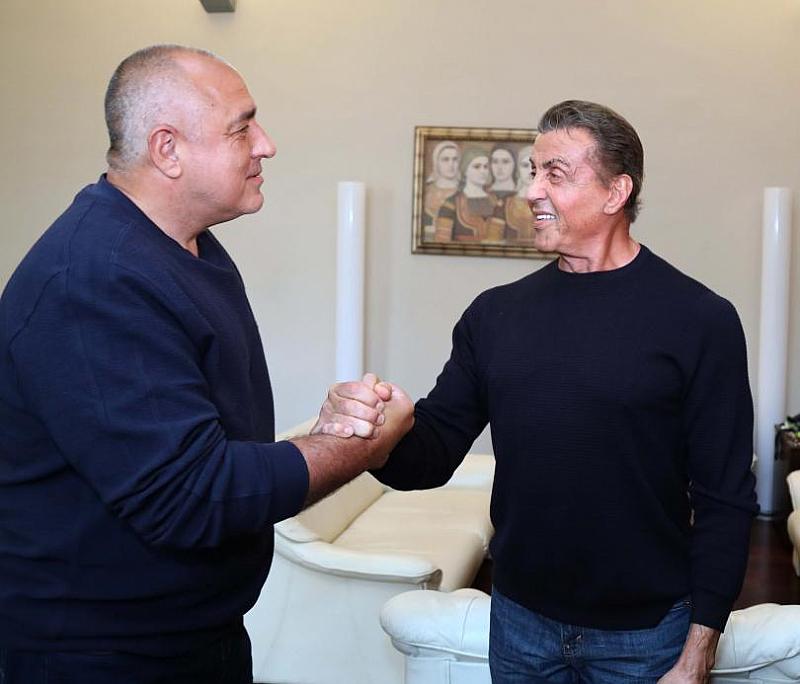 Премиерът Бойко Борисов се срещна с легендарния актьор Силвесър Сталоун.