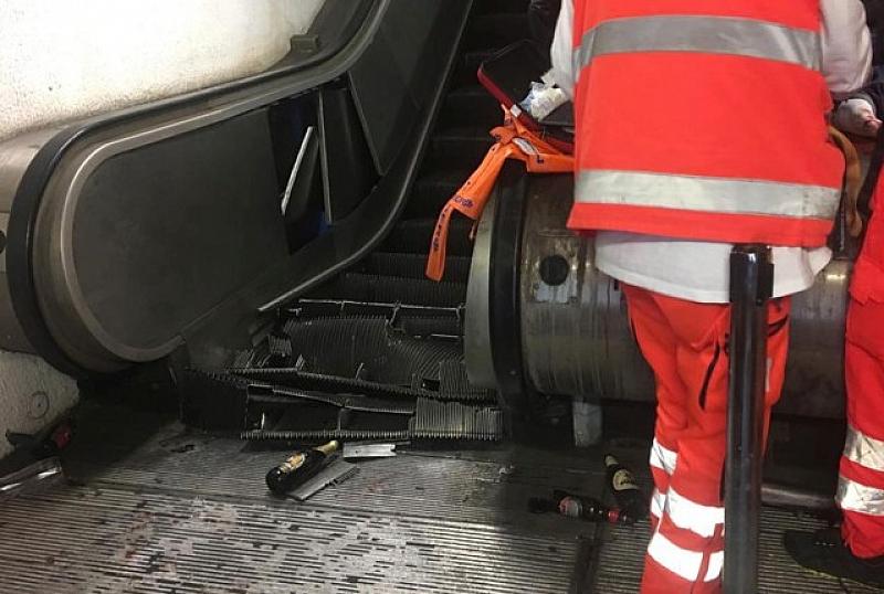 Най-малко 30 души са ранени при повреда на ескалатор в
