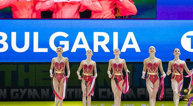 Отборът на България по художествена гимнастика донесе бронзов медал в