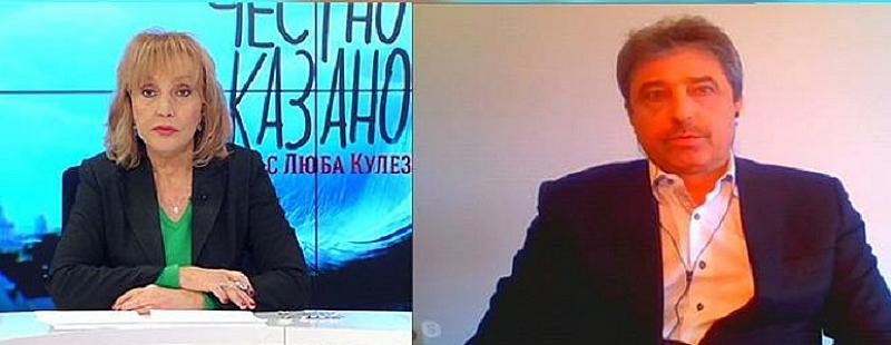 """Снимка: Цветан Василев пред """"Честно казано с Люба Кулезич"""""""