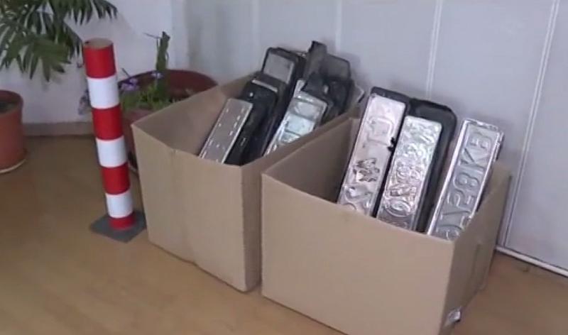 Пловдивският КАТ е събрал стотици регистрационни табели на автомобили след