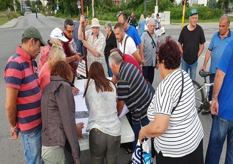 """Собственици на имоти по бул. """"Ломско шосе"""" в столицата протестираха"""
