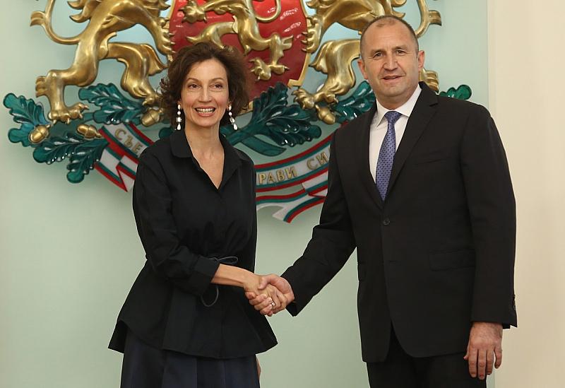 Генералният секретар на ЮНЕСКО Одри Азуле пристигна на двудневно посещение