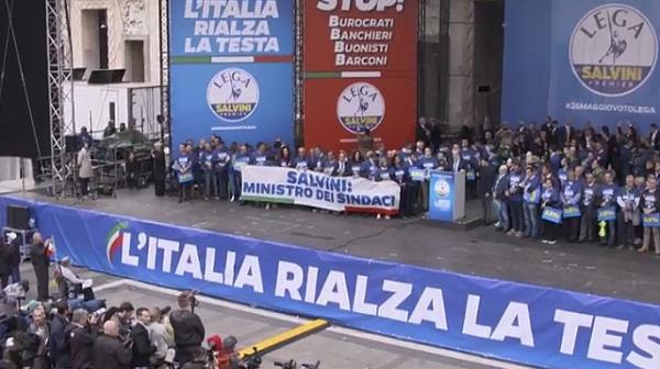 Веселин Марешки откри многохиляден митинг в Милано
