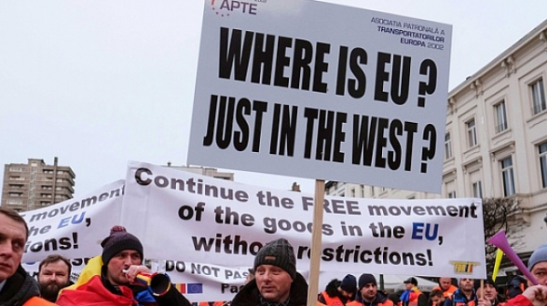 """Утре българи и румънци ще протестират срещу пакета """"Мобилност"""" в Страсбург"""
