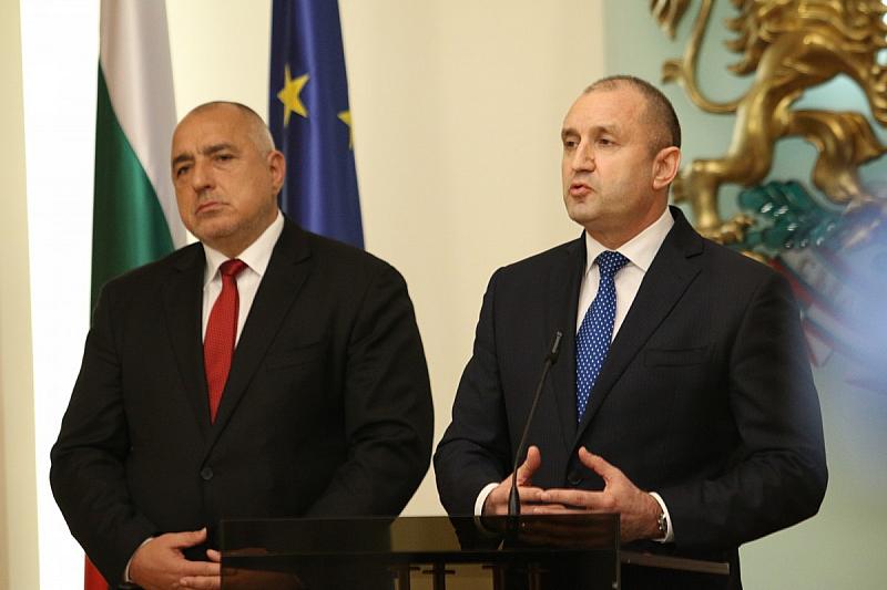 Президентът Румен Радев и премиерът Бойко Борисов поздравиха българите за
