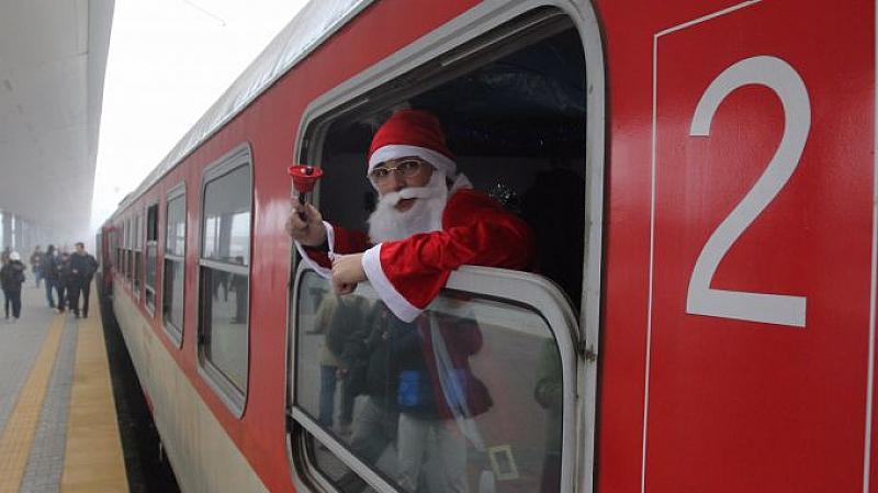 """Дядо Коледа и Снежанка ще пътуват във влаковата композиция """"Родопи"""""""