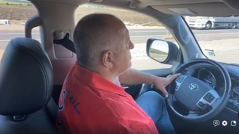 """Днес премиерът Бойко Борисов ни показа строежът на магистрала """"Европа""""."""
