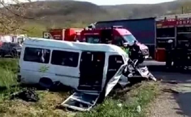 Катастрофата между микробус и кон се е случила край котленското