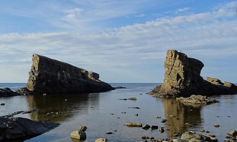 Въпреки разгара на зимата, на брега на морето до Синеморец