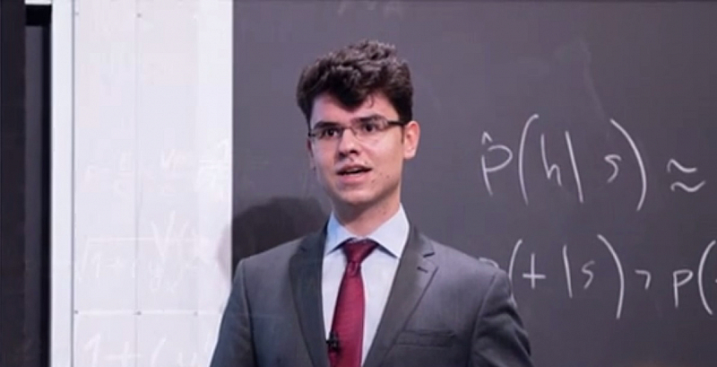 Димитър Чакъров е само на 19 години, но умът му