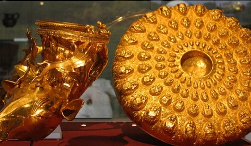 Уникалните 9 съда на Панагюрското златно съкровище отново са изложени