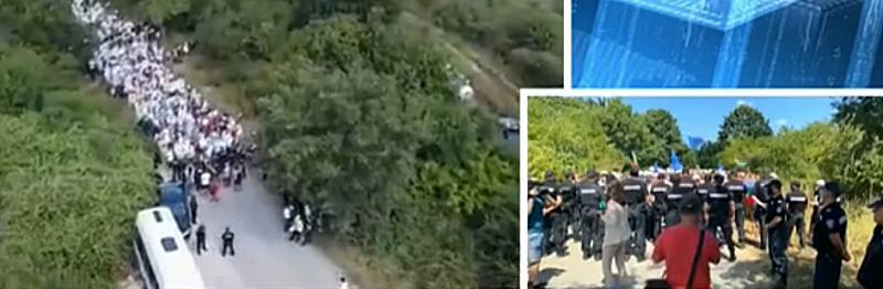 Едно куриозно видео от вчера как жандармерията загражда от посетителите