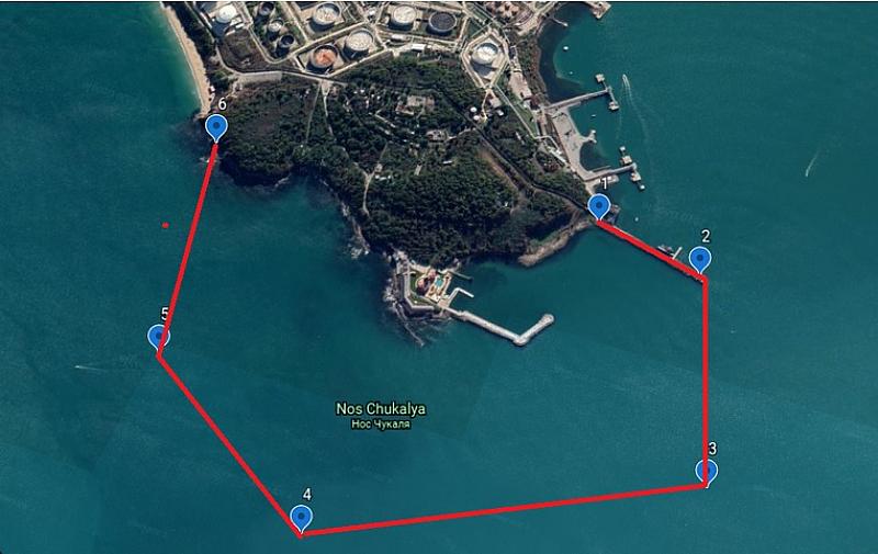 Забранен е достъпът по море в акваторията и района на