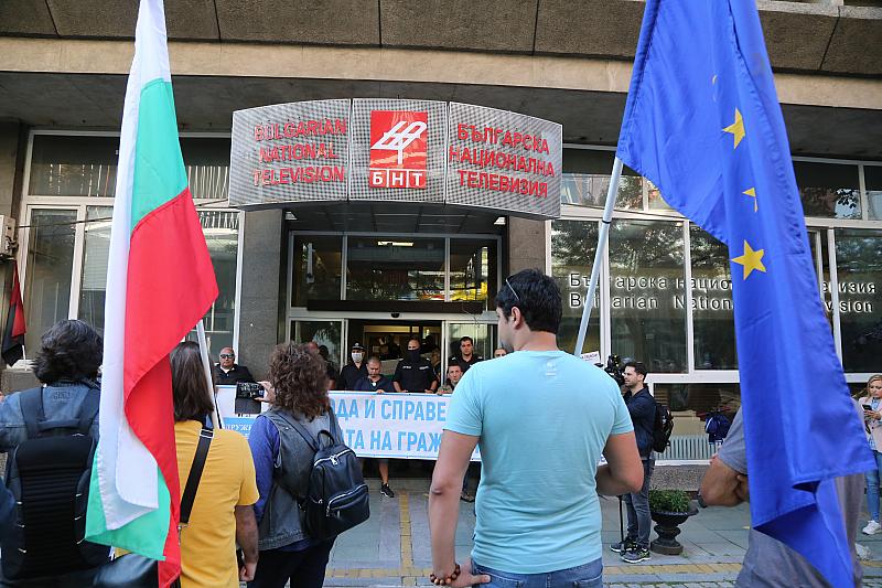 """Протестиращи настояват за участие в предаването """"Панорама"""" по БНТ. Утре"""