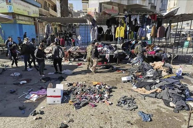 """Групировката """"Ислямска държава"""" пое отговорност за двойния атентат в Багдад,"""