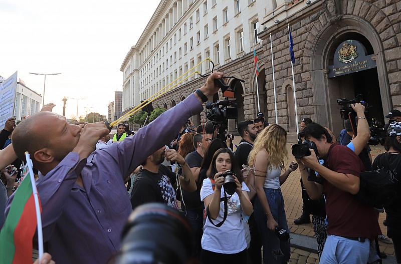 """Блокада на АМ """"Тракия"""" в поредния ден на антиправителствените протести"""