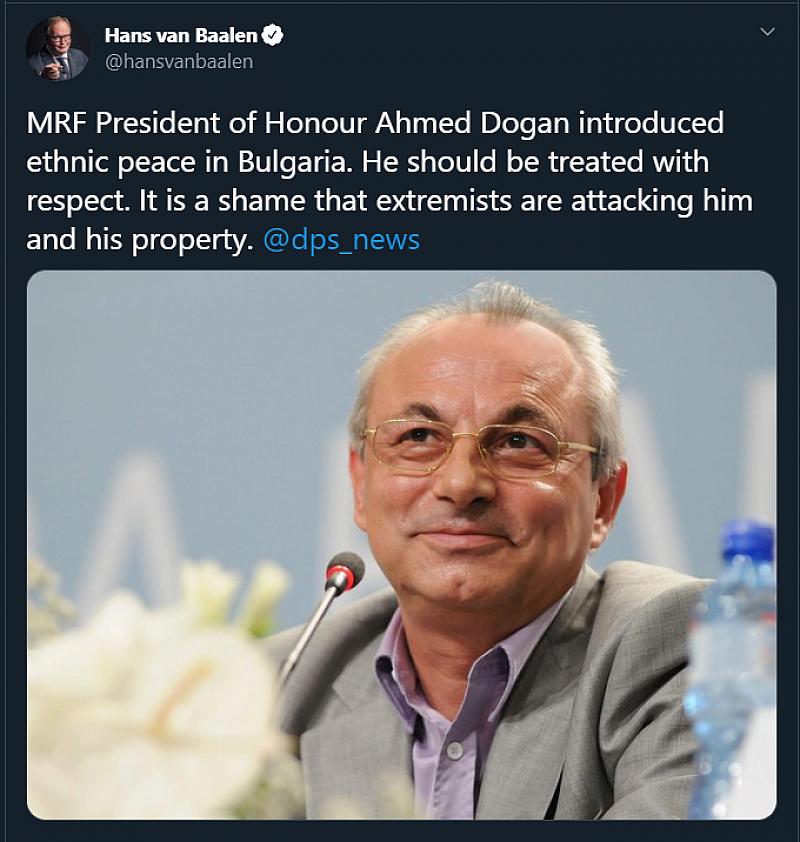 Емоционален пост в Twitter от председателя на Алианса на либералите