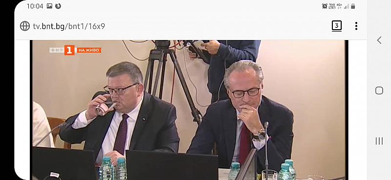 Председателят на ВКС Лозан Панов и главният прокурор Сотир Цацаров