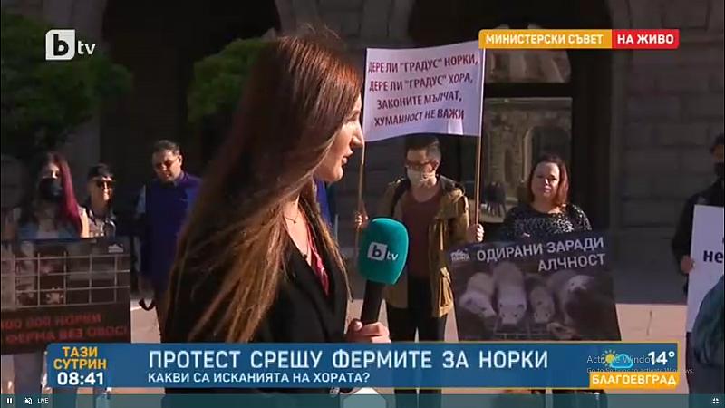 """Ето какво обясни по БТВ една от протестиращите: """"Бизнесът с"""