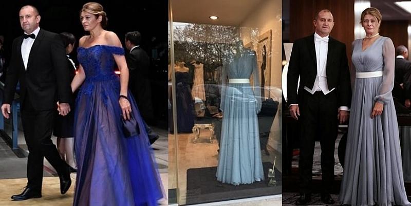 Продават се двете шикозни рокли, с които съпругата на президента