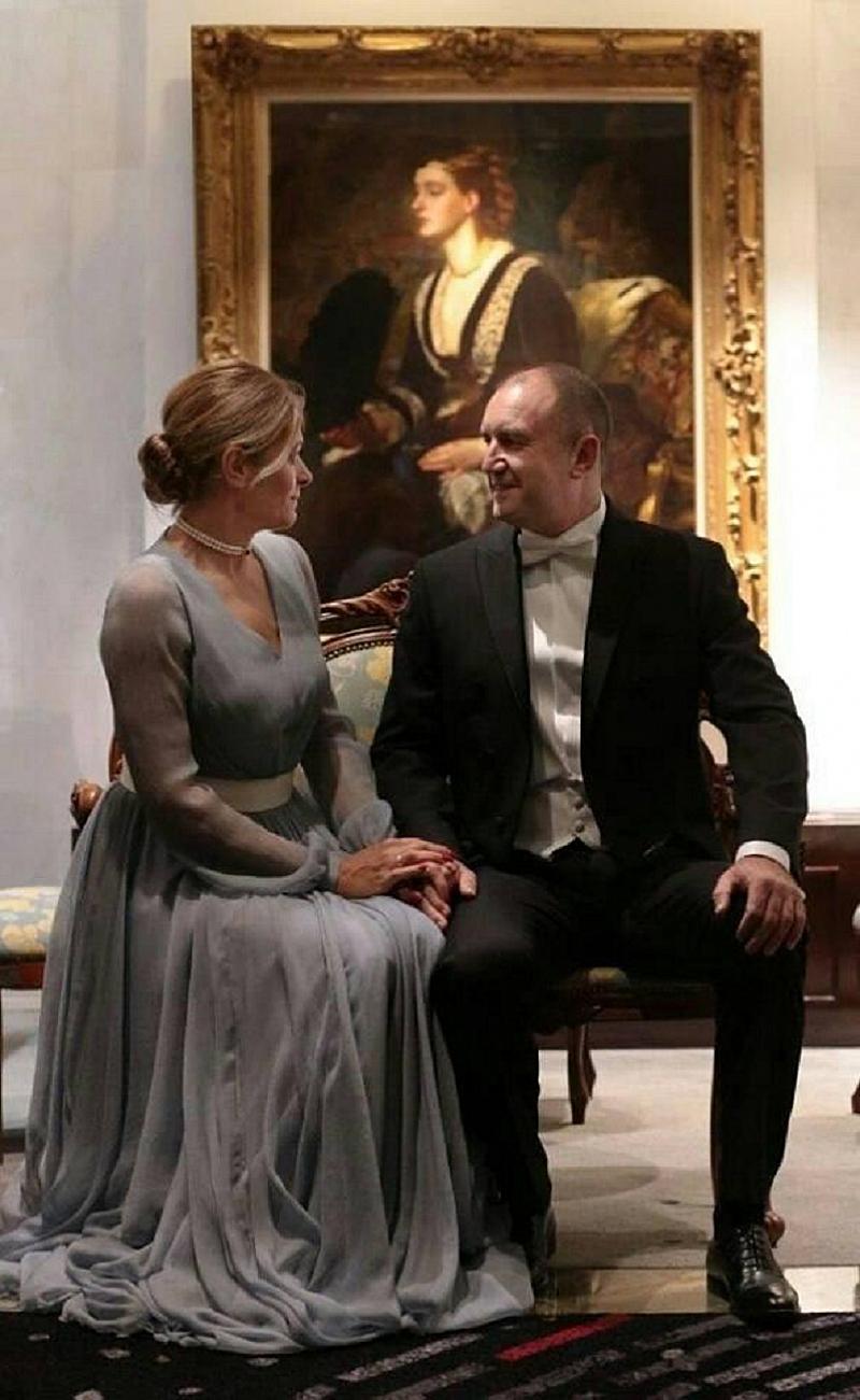 Президентът Румен Радев и съпругата му Деси Радева бяха сред
