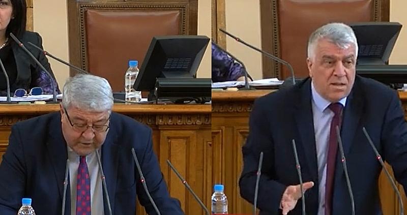 Депутатът от ГЕРБ Спас Гърневски и колегата му от БСП