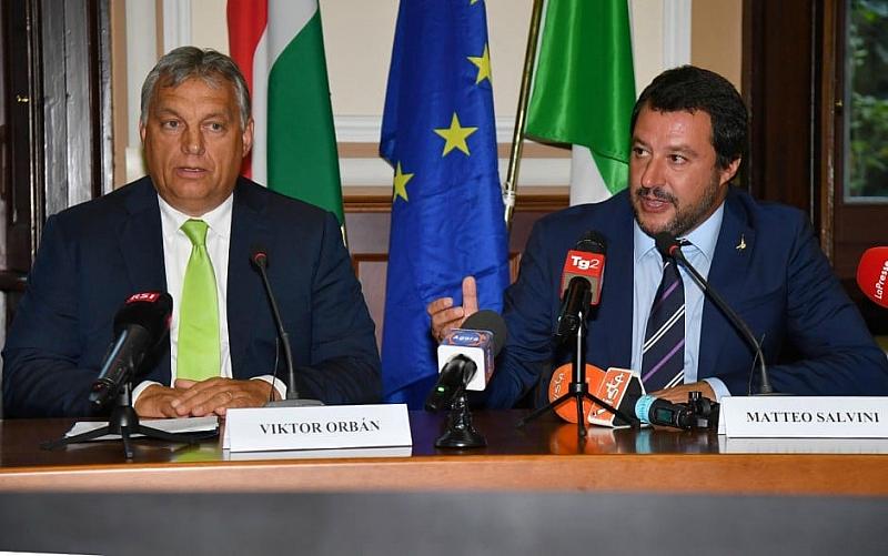 Двама премиери, унгарският Виктор Орбан и полският Матеуш Моравецки, се