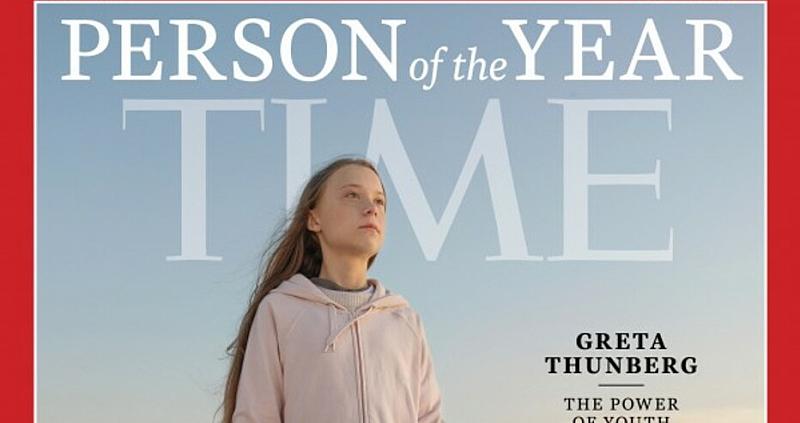 Time обяви за Личност на годината 16-годишната активистка Грета Тунберг.