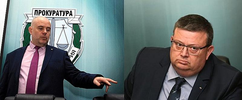 Главният прокурор Сотир Цацаров и неговият заместник и кандидат да