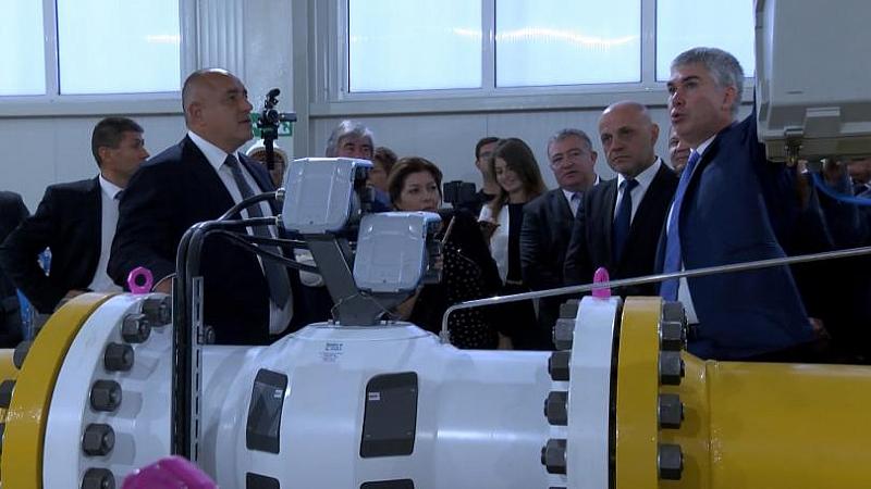 """Булгартрансгаз"" ЕАД откри разширението на газопреносната мрежа по трасето на"