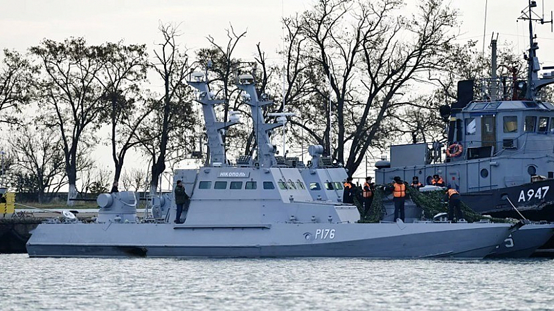 Русия предаде на Украйна трите нейни военни кораба, задържани в