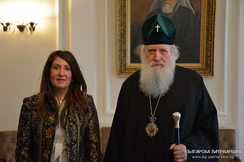 Снимка: Патриарх Неофит се срещна с посланика на САЩ Херо Мустафа