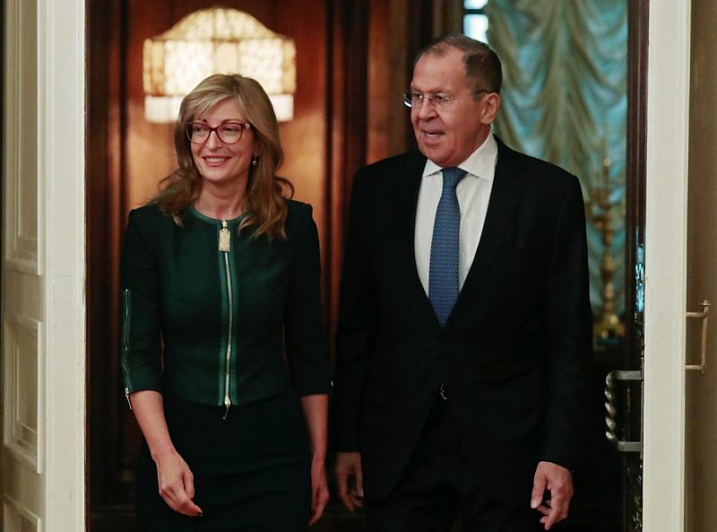 В Москва Екатерина Захариева и Сергей Лавров обсъдиха българо-руските отношения.