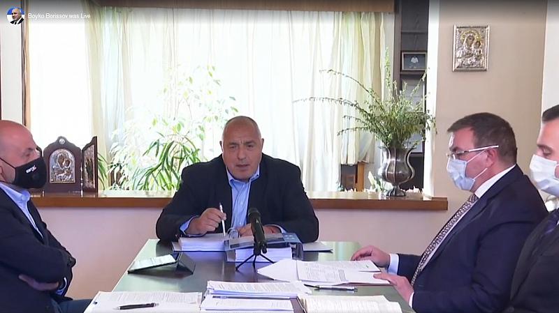 Това коментира премиерът в оставка Бойко Борисов в живо включване